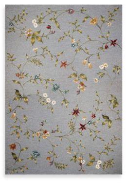 Kas Horizon Blue Floral 6 Foot 9 Inch Round Indoor Outdoor Rug