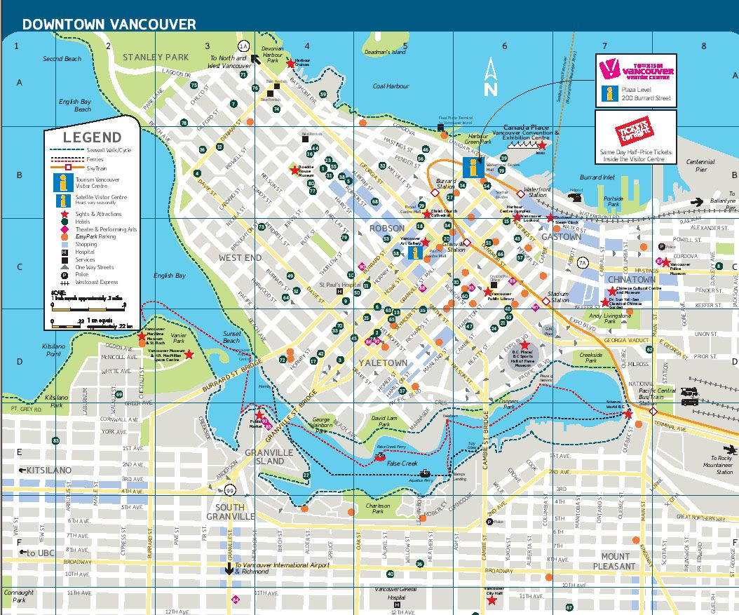 Vancouver Map Staying where all the action is Check out the