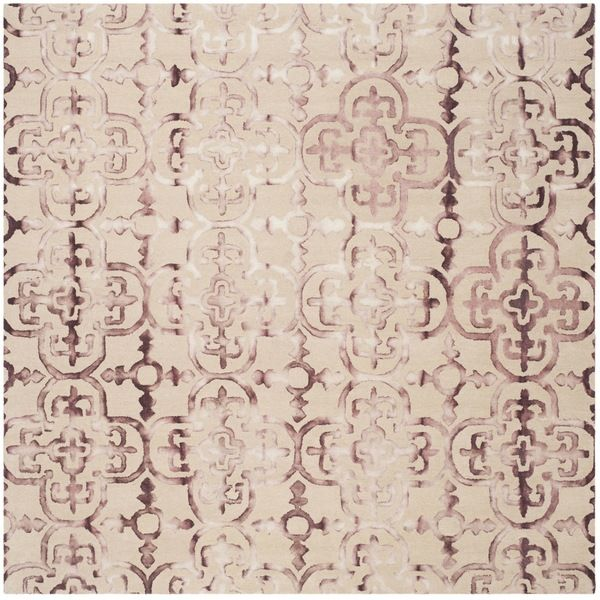 Safavieh Handmade Dip Dye Beige/ Maroon Wool Rug (7' Square) - Overstock Shopping - Great Deals on Safavieh Round/Oval/Square