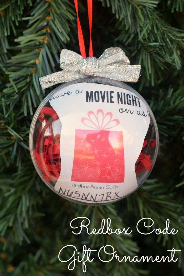 Redbox Code Gift Ornament AD