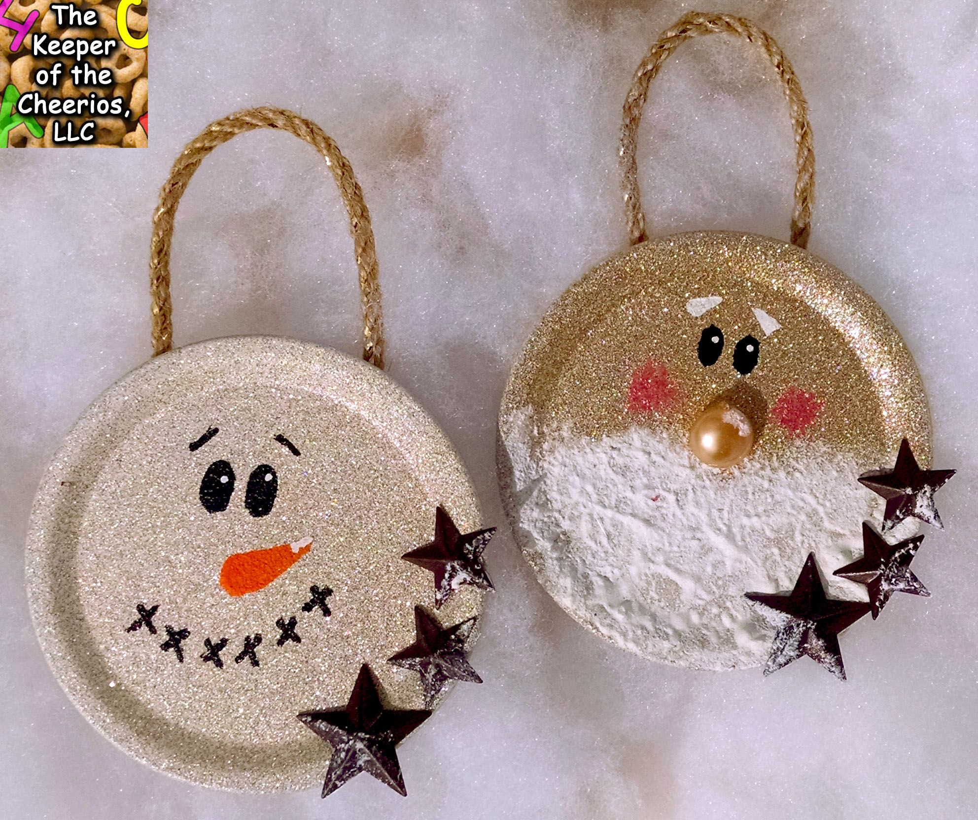 Primitive Christmas Craft Ideas Part - 41: Mason-jar-lid-christmas-ornaments. Primitive ...