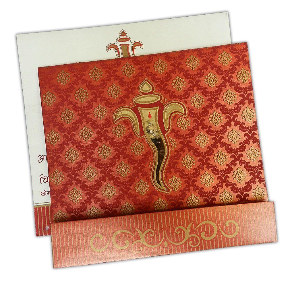 Deep Red Wedding Invitation Card | Deep red wedding, Wedding ...