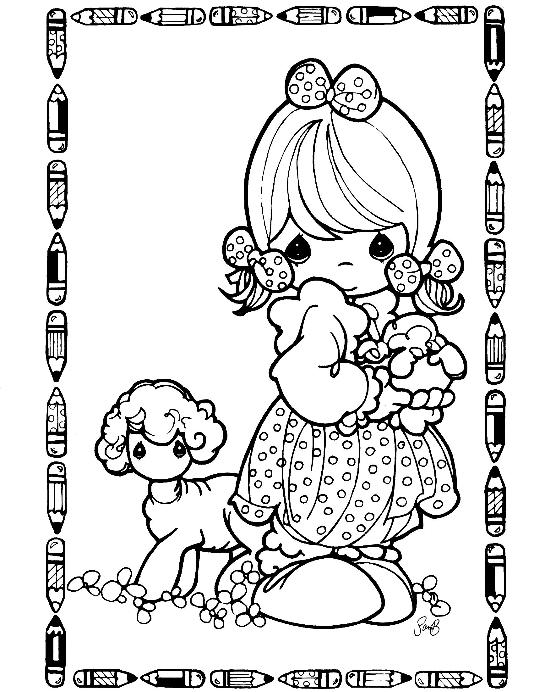 precious moments coloring page I grew up with this stuff, my mom ...