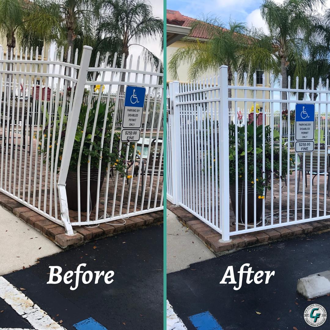 Aluminum Fence Repair Aluminumfence Fences Fencesofinstagram