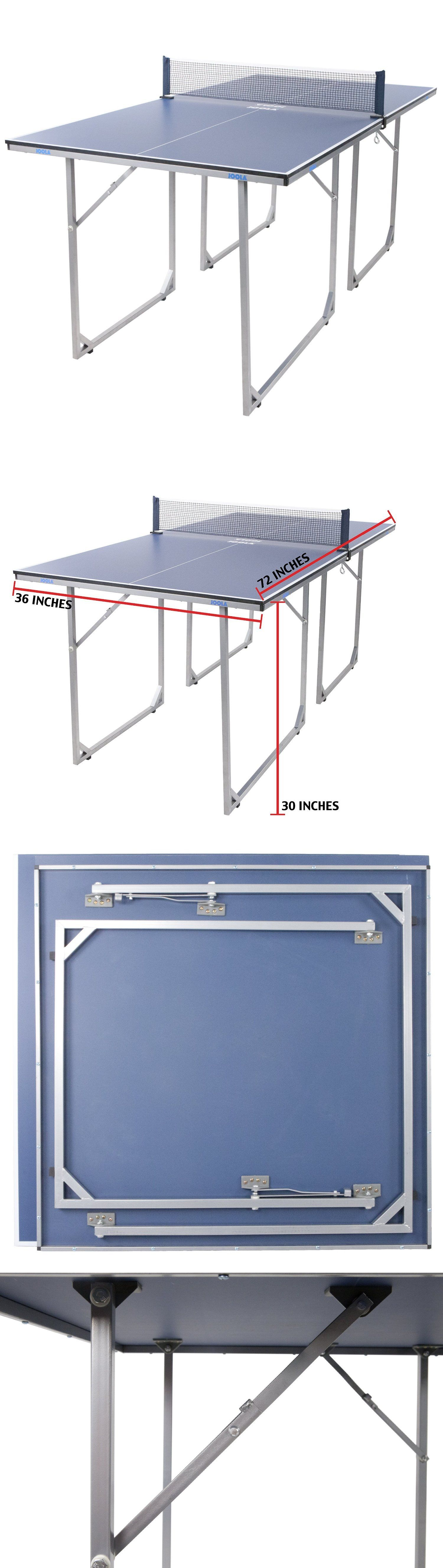 Tables 97075: Ping Pong Table Tennis Table Sports Game Room Small Compact  Portable Mid Size