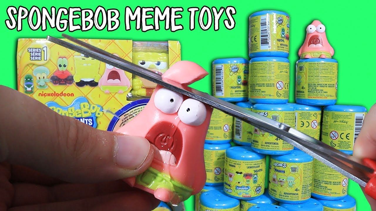 30 spongebob meme toy capsules yes actual meme toys