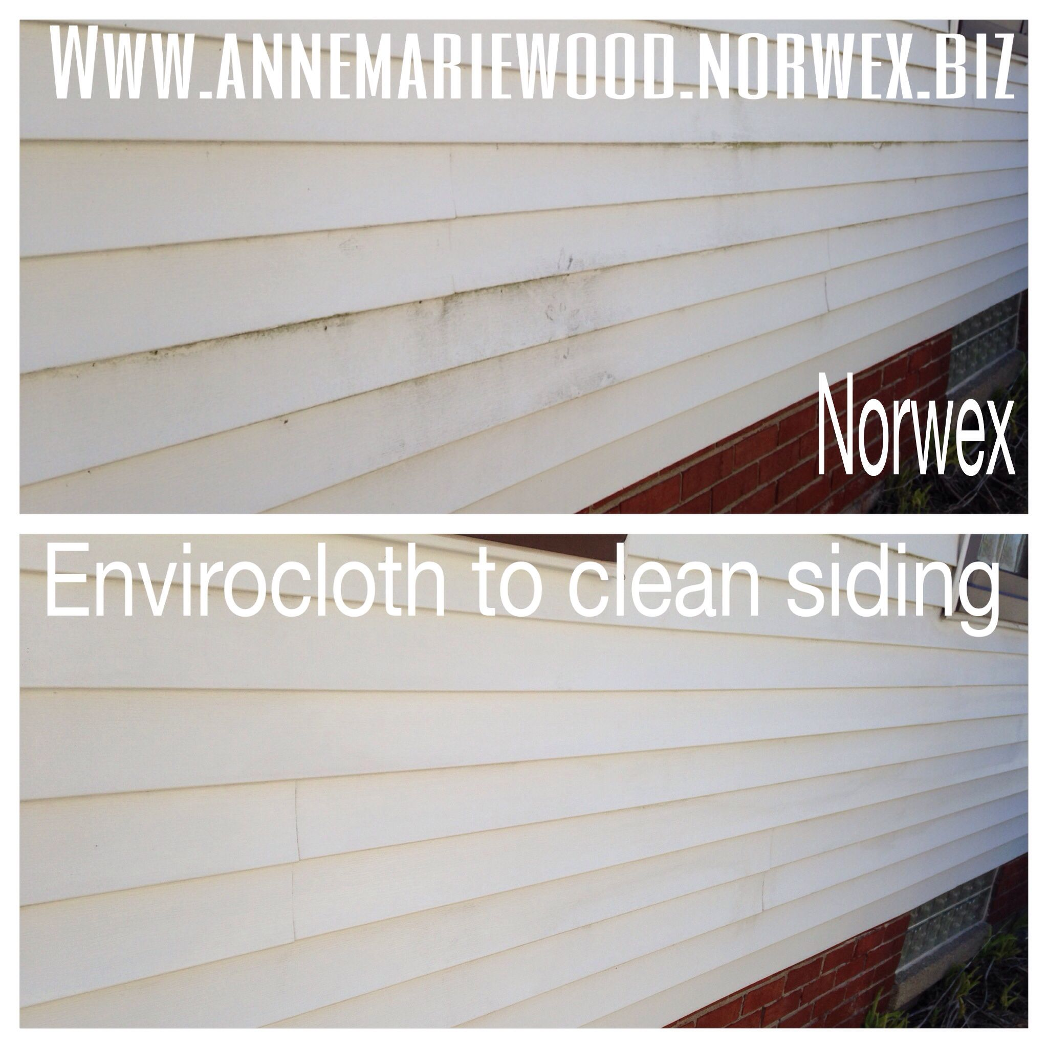 Norwex Envirocloth To Clean My Siding Easy Spring Cleaning Norwex Norwex Envirocloth Envirocloth