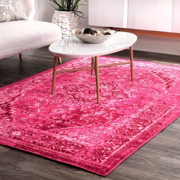 nuLOOM Traditional Vintage Inspired Overdyed Fancy Pink Rug (6\'7 x 9 ...