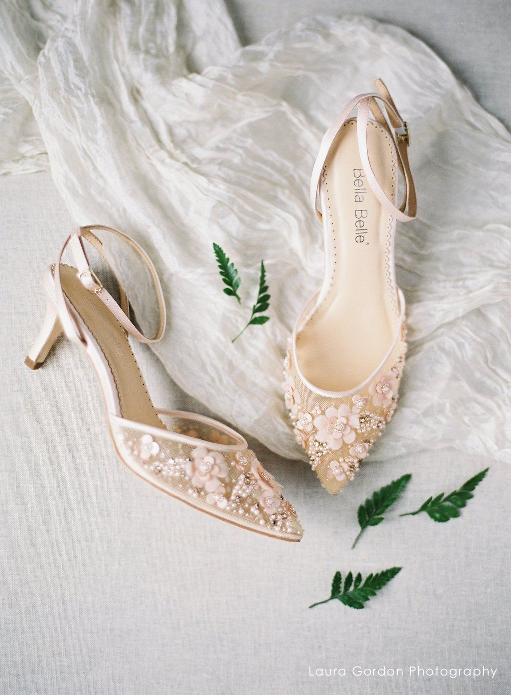 a5b839d0402ca Rosa Blush - Euphoria collection - Featuring 3D floral beading and  scattering pearls - Laser-cut chiffon and pearlized petals - Comfortable kitten  heel with ...
