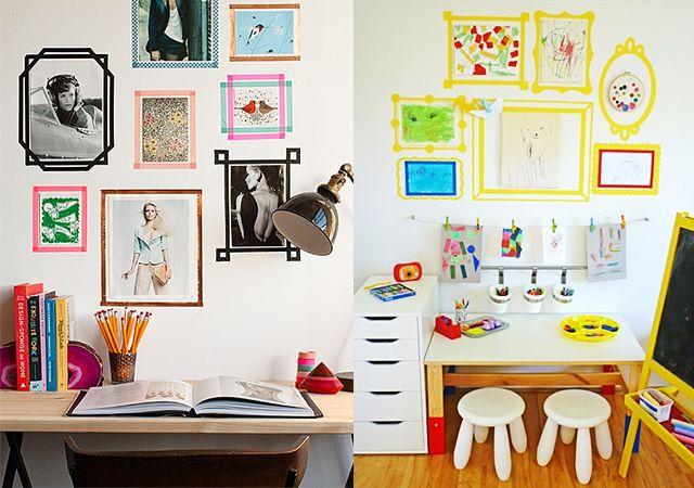 Decoraci n de las paredes infantiles con washi tape - Decoracion de paredes con fotos ...