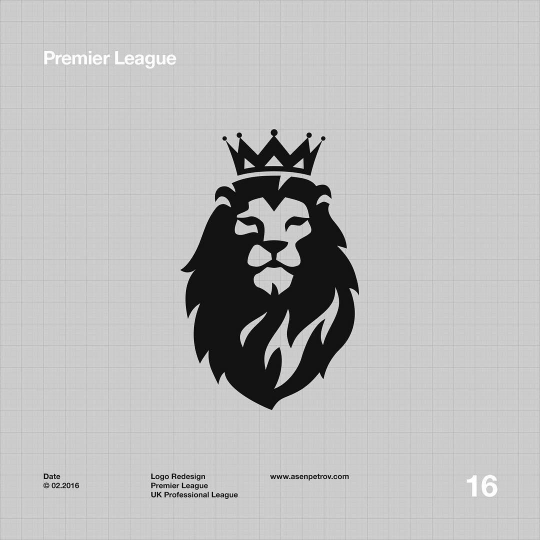 Lion Premier League Logo Redesign Premier League Logo Lion Tattoo Logo Redesign