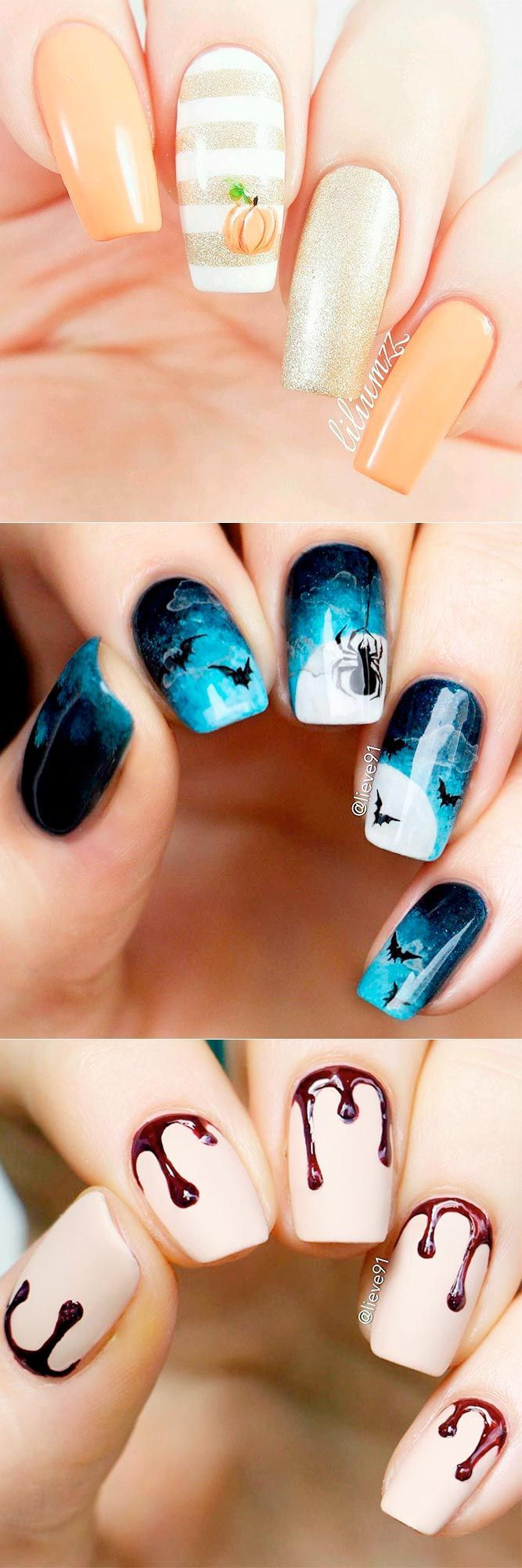 33 Spooky Halloween Nail Designs for More Fun - Nagel, Nagels lakken ...