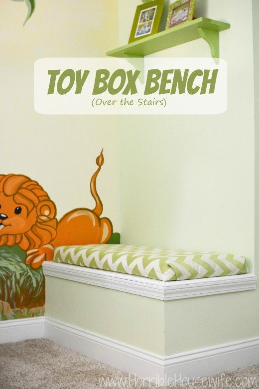 Tutorial Showing You How To Add A Toy Box Bench Over The Stairs In Your  Gender