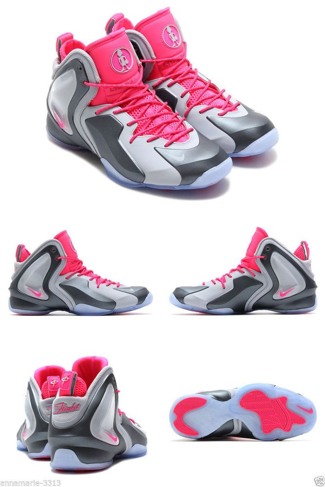 new product 469db a857c NIKE LIL PENNY POSITE SIZE 11.5 PINK WOLF GREY HARDAWAY BASKETBALL SNEAKERS  NEW  Nike  BasketballShoes