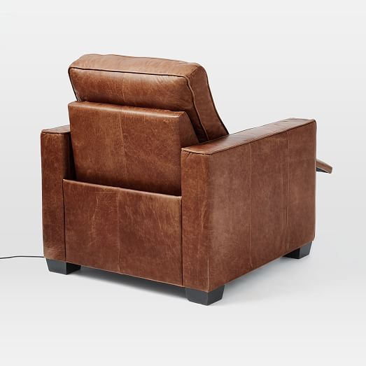 Fine Henry R Leather Power Recliner Chair Tobacco At West Elm Gmtry Best Dining Table And Chair Ideas Images Gmtryco