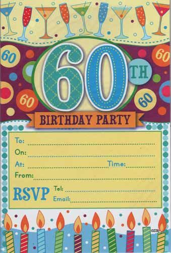 Nice Free Printable Th Birthday Invitations Download This - Invitations for 60th birthday party templates