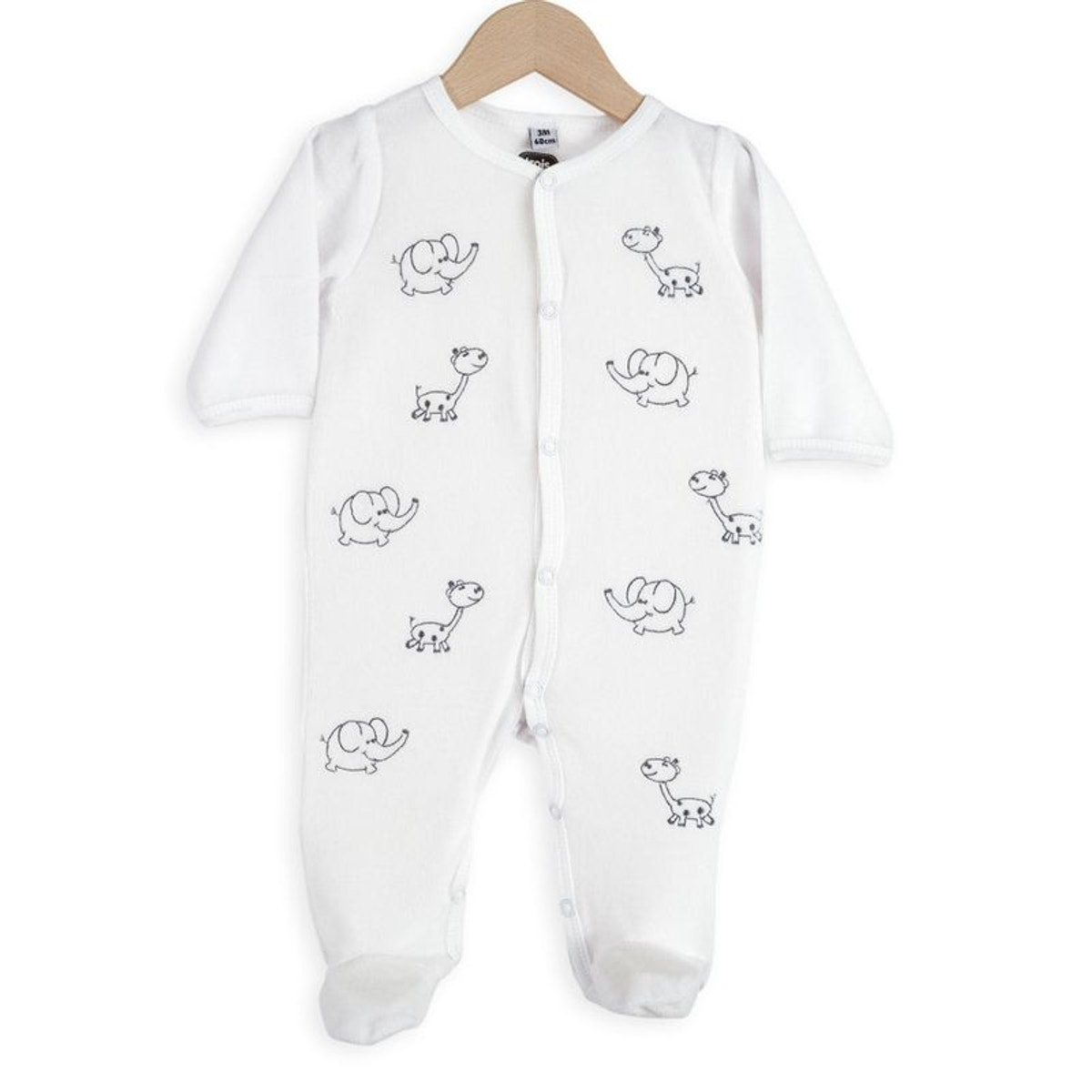 b742b647f1100 Pyjama Bébé - Éléphants Et Girafes - Taille : 0 mois in 2019 ...