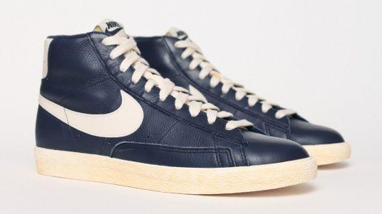 Just do it: Nike Blazer Vintage Cuir - Bleu Marine | Nike ...
