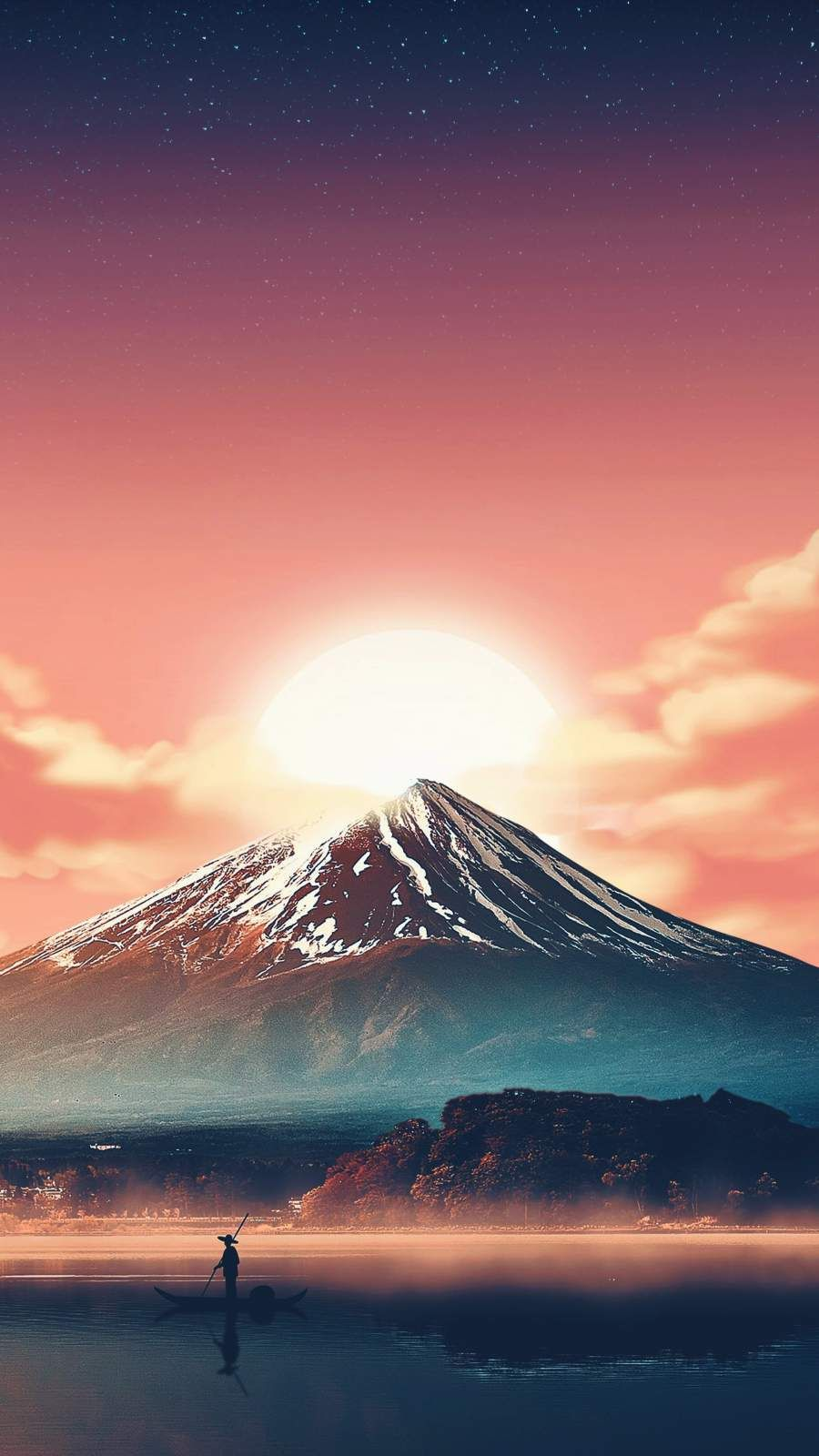 Mount Fuji iPhone Wallpaper Scenery wallpaper