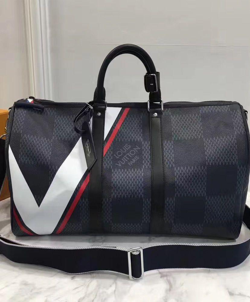 5652f5b726f0  Louis  Vuitton  Keepall Bandouliere 45 N44008 Black For Men. 2017 Travel LV  Handbag.