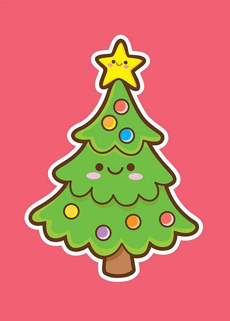Kawaii Christmas Tree Kawaii Christmas Christmas Tree Drawing Christmas Drawing