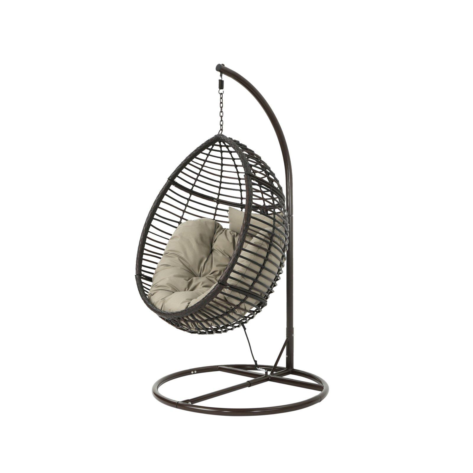 Hang Ei In Standaard.Best Selling Home Layla Wicker Outdoor Hanging Egg Chair Multibrown