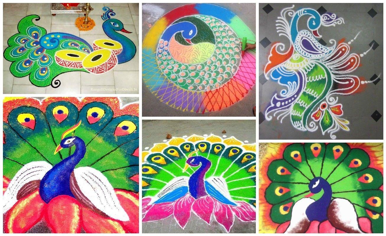 How to make rangoli with peacock   rangoli   Pinterest   Peacock and ... for Rangoli Designs With Theme Go Green  242xkb