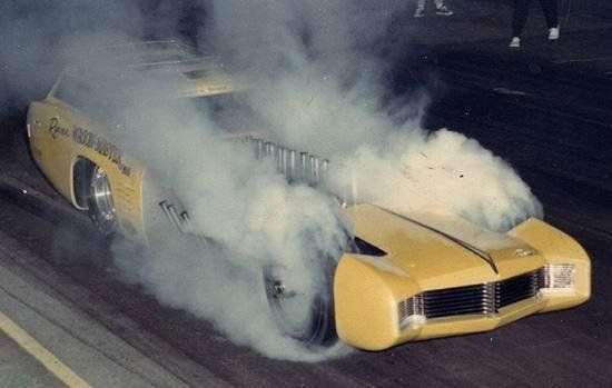 TV Tommy Ivo of Mouseketeer Fame in his Twin Engine Pontiac Boiling the Hids