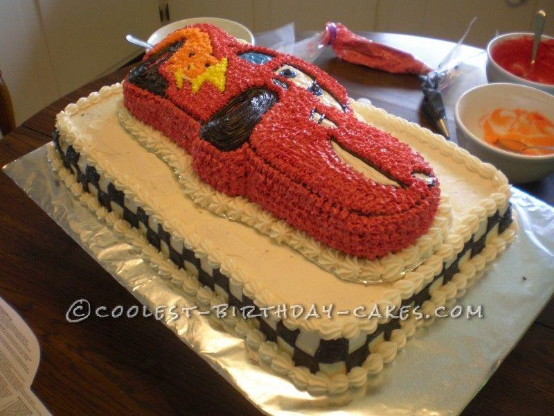 Coolest Lightning McQueen Cake Lightning mcqueen cake Mcqueen