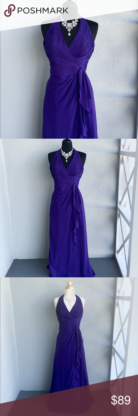 Purple maxi dress size in my posh closet pinterest