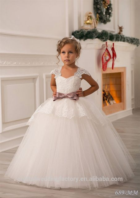 Source Wholesale 10 Year Old Girl Latest Children Frocks Birthday Lace Long Ball Gown Flower Dresses Pattern Kids Party LF20 On Malibaba