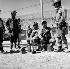 Grupo de mineros de mina El Salvador, región de Atacama, Norte Chico