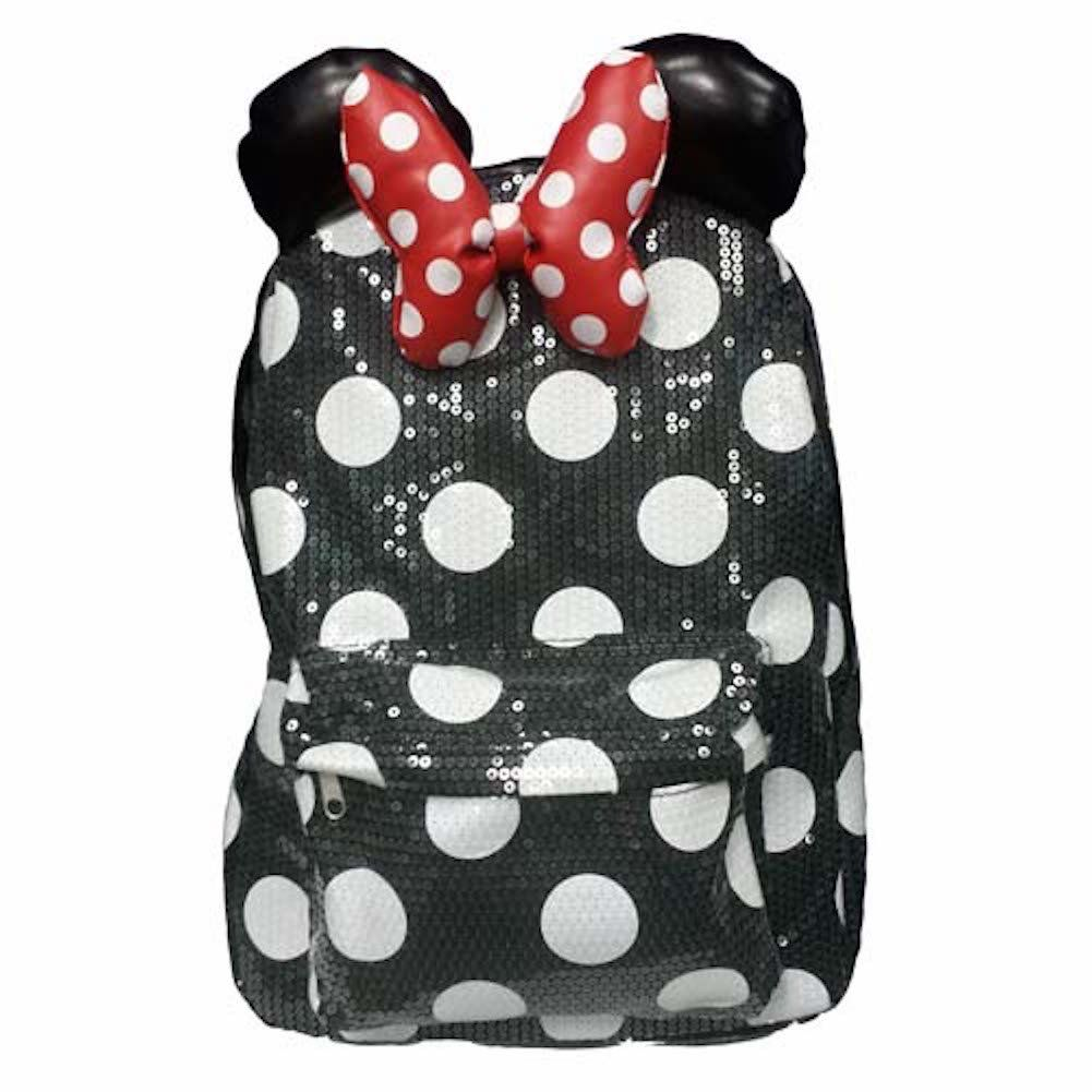 Disney Parks Minnie Mouse Sequin Backpack Adult Size NEW  e8bc384cd7549