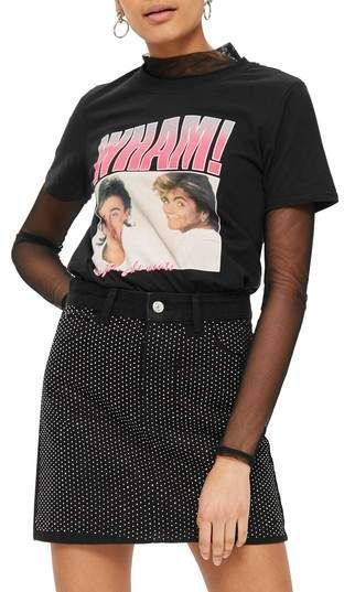 Topshop Wham! Graphic T-Shirt #fitness #80s #80sfashion #clothing #clothes #sponsored #fitness80s