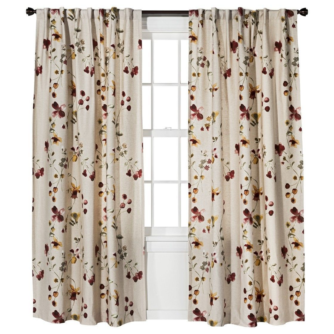 Hanging curtains in a corner living room curtains farmhousebrown