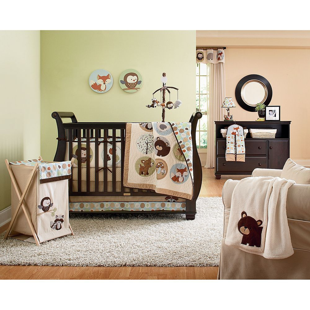 Great Nursery Theme From Carters Adorable Forest Critters Kohls Gender Neutral Baby Nursery Animal Nursery Theme Baby Bed