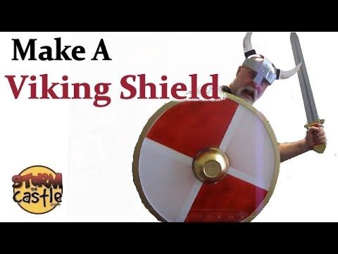 How To Make A Viking Shield Out Of Cardboard Or Foam Board Viking Shield Vikings Shield