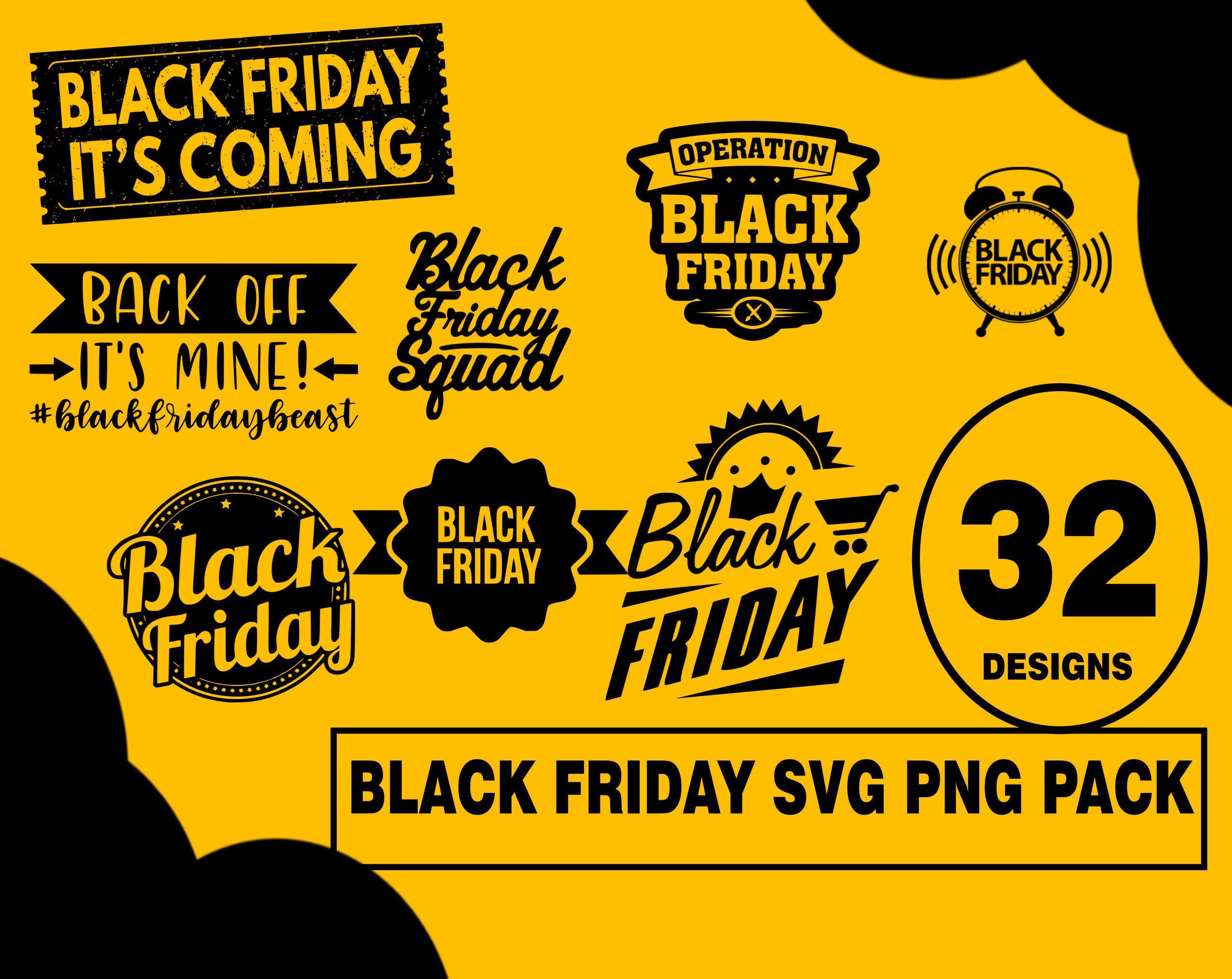 Black Friday SVG PNG design bundles, black friday squad, black friday tribe, black friday vinyl pack, black friday images, black friday usa