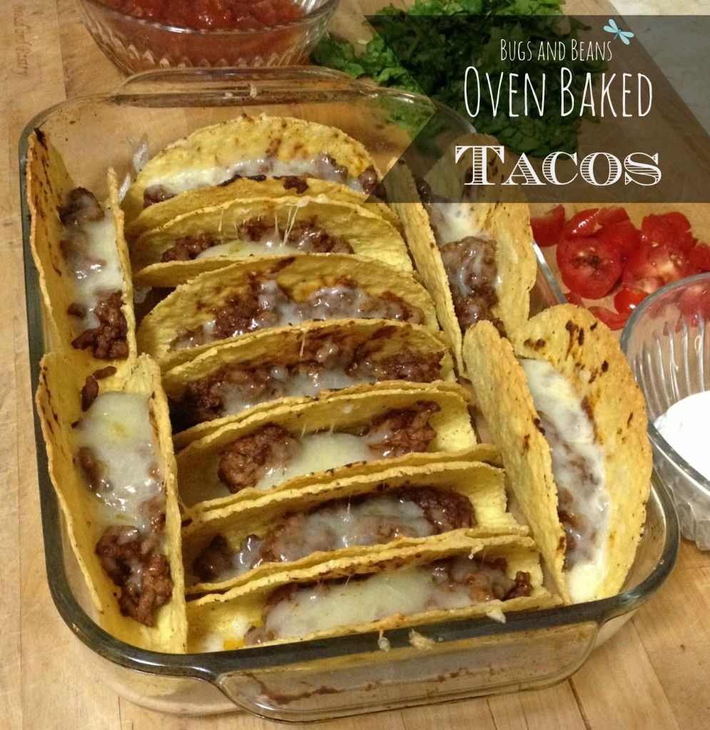 Oven baked tacos - easiest way to make tacos for a crowd.