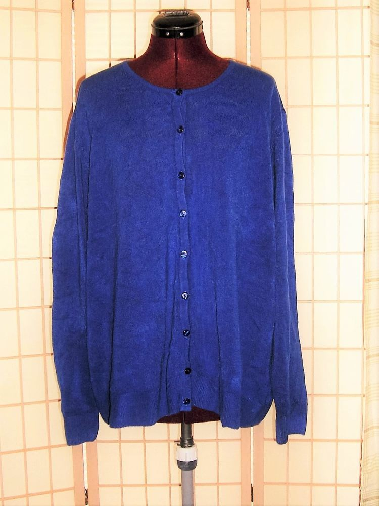 Appleseed's Sz 3X Periwinkle Blue Knit Cardigan Sweater ...
