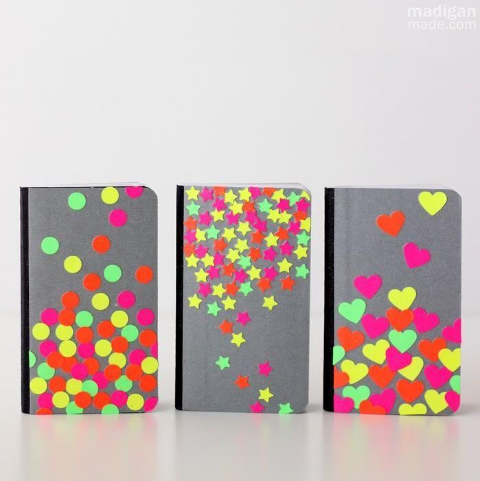 Diy Back To School Diy Easy Neon Confetti Notebook Diy Back To