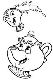 Mrs Potts Chip Disney Coloring Pages Coloring Books Coloring
