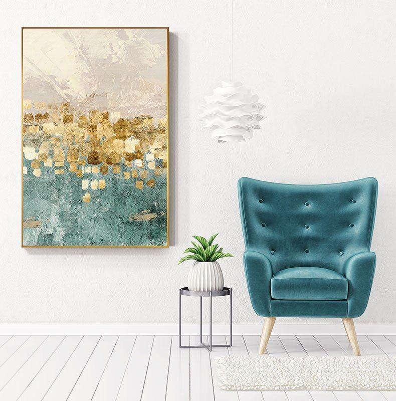 Gorgeous Golden Accent Wall Art, Canvas Print Poster