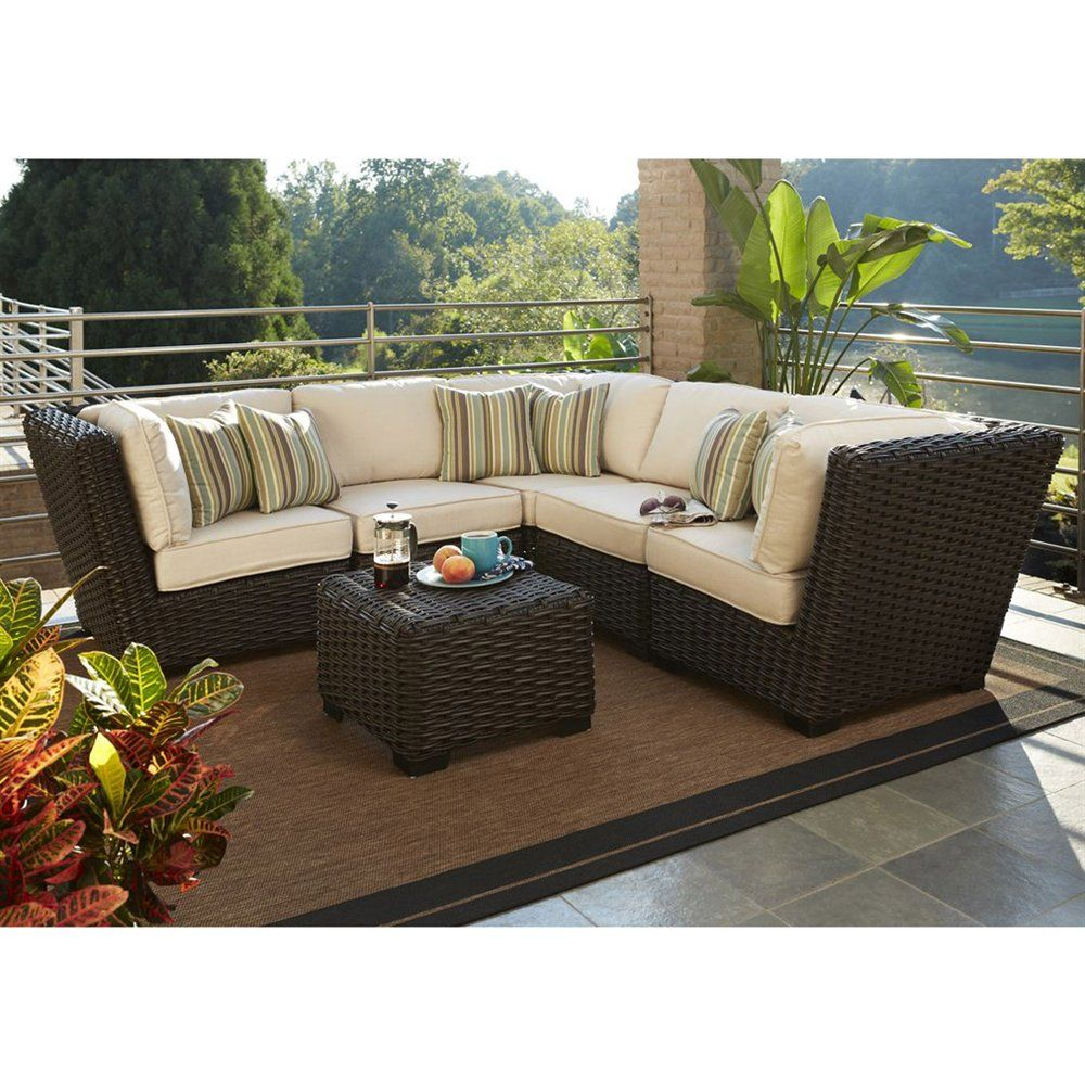 Shop Allen + Roth Blaney 6 Piece Patio Sectional Conversation Set At Loweu0027s  Canada.