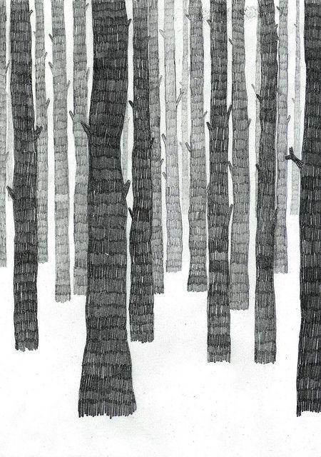 skog | Art lessons, Illustrations and Pencil illustration