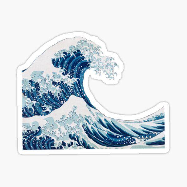 Etiqueta engomada de la onda | Pegatina