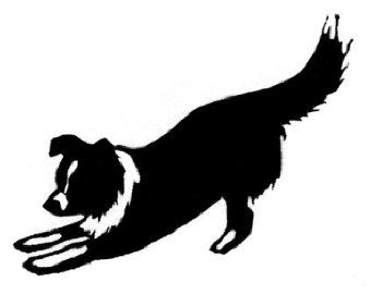 border collie silhouette tattoos google search wood burning rh pinterest com border collie puppy clipart border collie clipart black and white