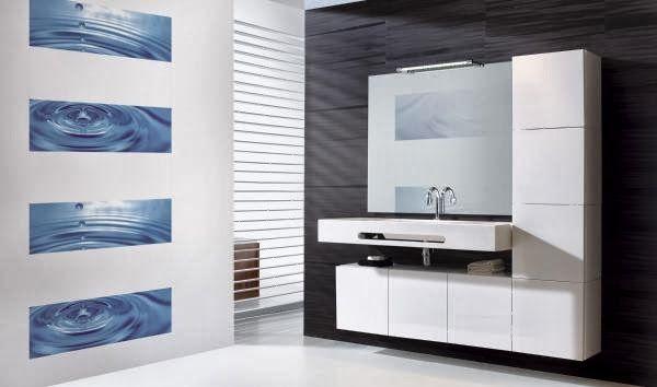 Salle de bain blanche avec faïence #deco goutte du0027eau de chez - photo faience salle de bain