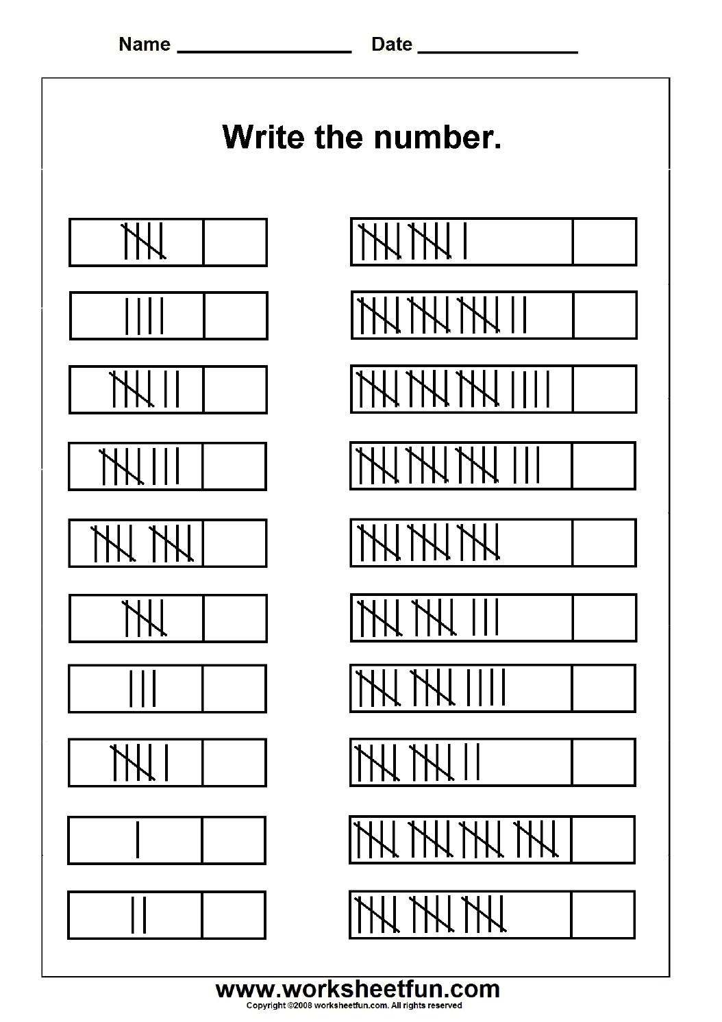 medium resolution of Tally Marks – 1 Worksheet   1st grade math