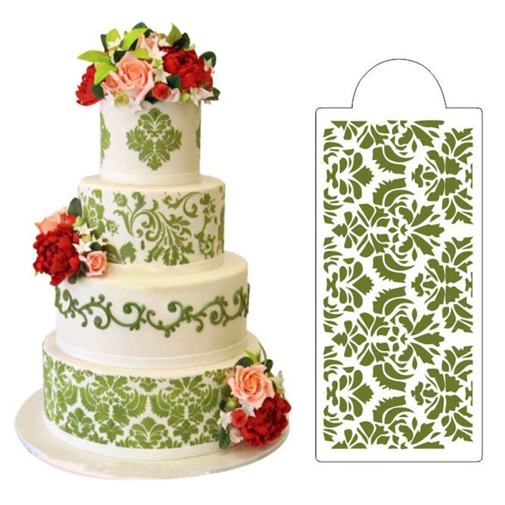Baking tool fondant side decor mould cake stencil damask